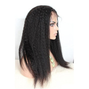 Sexyqueenhair Italian Yaki Straight Front Lace Human Hair Wigs Natural Hairline Natural Colour#1B