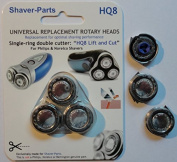 Shaving heads HQ8 Lift & Cut, new, alternative and suitable (fits) for Philips / Norelco shavers
