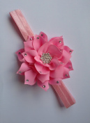 Rumy's Boutique new PINK crystallised baby flower head band with reinstones girls hair accessories