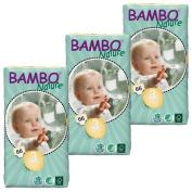 3 Packs of Bambo Nature Nappies (Midi) 198 nappies - 11-20lbs, 5-9kg