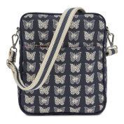 Pink Lining Out and About Mini Messenger Cream Butterflies Changing Bags