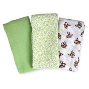 Summer Infant Muslin SwaddleMe Blanket 3-Pack, Go Bananas Infant, Baby, Child