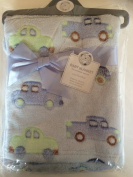 Baby Pram Blanket - Car Colour Blue 683