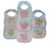 7 Days ot the week Baby bibs with Hook and loop Fastening Plastic Backed 3 Designs 0-6