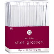 Amscan 44.3 ml Test Tube Shot Glasses, Clear
