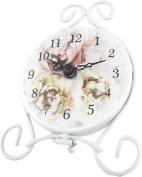 Mini Floral Mantel Clock - Pink Flower