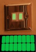 Glow In The Dark Vinyl Light Switch Stickers, Plug Socket Luminescent x 16 by Ellisgraphix