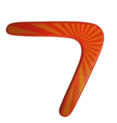 Ziweiba Kids Adult Wooden Boomerang Summer Fun Garden Girl Boy Outdoor V Shaped Dart Games Toys