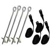 Heavy Duty Galvanised Trampoline Anchor Kit / Tie Down Kit, Fits all Trampolines . Ground Camp Tent By Delex®