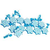 Snowflake Bubble Bottle Necklaces