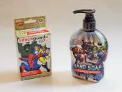 Avengers Hand Soap and Mavel Comics Bandaid Set