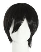 Gracefulvara Vogue Sexy Men's Handsome Black Short Straight Cosplay Party Hair Wig Full Wigs