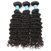 Lolly 6a grade 3pcs 60cm unprocessed virgin brazilian hair Deep Wave human hair extensions weave Natural Colour 300g/pack