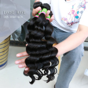 Xuchang Eecamail Hair Beauty Top Quality 3 Bundles Brazilian Virgin Loose Wave, Natural Colour Raw Unprocessed 100% Human Hair Virgin Loose Wave Hair Weave Mixed Size8 -70cm