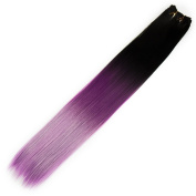 Savena Soft Straight High Temperature Heat Resistant Synthetic Hair Extensions Ombre Colour Weaves 60cm 100g/Bundle