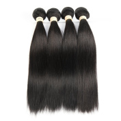 Allrun Hair Brazilian Virgin Hair Straight Wave 4 Bundles 7A Unprocessed Brazilian Straight Hair Natural Colour Brazilian Hair Weave Bundles 24 26 28 80cm