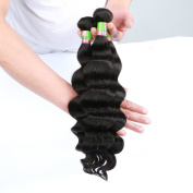 Xuchang Eecamail Brazilian Virgin Hair 7A Loose Wave Hair Weave 1 Bundles 100g Unprocessed Loose Deep Wave Virgin Human Hair Weave Natural Black 20cm - 70cm