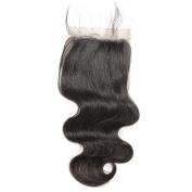 BEFA Hair Free Part Virgin Hair Lace Closure 10cm x 10cm Brazilian Human Hair Body Wave Closure Bleached Knots Natural Colour