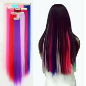 Popular 60cm Straight 10PC Multi Colour Long New 1 Clips One Piece Clip in Hair Extension Extensios Half Full Head Hair Piece