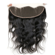 6a Brazilian Virgin Hair Body Wave 1piece Lace Frontal Closure 13*4 Bleach Knots with Baby Hair 20cm -60cm