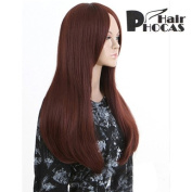 HairPhocas® Medium Long Brownish Red Curly Hair For Full Hair Wigs