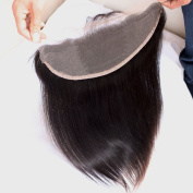 Toprincess Lace Frontal 13x 4 Ear to Ear Free Part 100% Unprocessed Silky Straight Brazilian Virgin Hair Top Lace Front Closures with Baby Hair Natural Colour 50cm