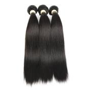 ALLRUN Hair 7A Unprocessed Brazilian Virgin Hair Straight Pack of Three,100g/Bundle,20cm - 130cm Natural Colour Human Hair Extension 24 26 28