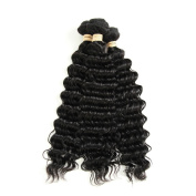 Allrun Hair Brazlian Deep Wave 3 Bundle Deals Brazilian Curly Virgin Hair Weave 25cm - 60cm 100% Brazilian Hair Curly Weave Human Hair Extensions 20 22 24