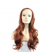 Aoert Lace Front Wig With Body Wave - Kanekalon Synthetic Lace Front Wigs 70cm - Quality Heat Resistant Fibre Colour #130