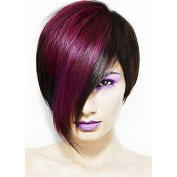 Kerry Grade 5A Brazilian Human Hair Ombre Red Colour Glueless Bob Short Lace Front Wigs 130 Density