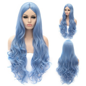 Women's 80cm Cosplay Wig Long Wavy Heat Resistant Synthetic Wig