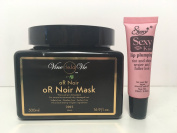 "Vine de la Vie oR Noir Mask for Extremely Dry and Damage Hair 16.9 Oz ""Free Starry Sexy Kiss Lip Plumping 10 Ml"""
