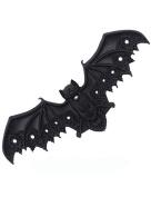 Black Lace Vampire Bat Barette Hair Clip Occult