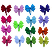 Bzybel Boutique Baby Girl's Small Hair Clips Headwear Grosgrain Ribbon Bows