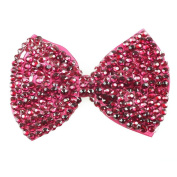 Bow Shaped Large Hair Clip - Crocodile / Alligator Clip and Diamante Bow