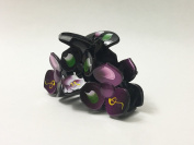 Large Plastic Three Flower Jaw Claw Hair Clip Painted Design