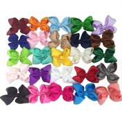 XIMA Grosgrain Ribbon Hair Bows with Alligator Clips Girls Bows Clips Set of 25