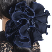 Ladies Satin Hair Clip Claw Large Party Grips NF807