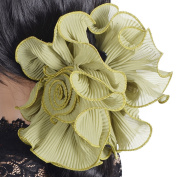 Ladies Wrinkle Chiffon Hair Clip Claw Large Party Grips NF808