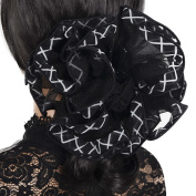 Large Chiffon Hair Clip Claw Patchwork Grips Party clamp NF809