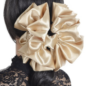 Large Satin Hair claw clip hair evenning party wedding clamp NF810