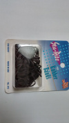 Sta-Rite 100CT Brown Ponytail Rubberbands, 6PKS