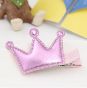 PETMALL 3pcs Cute Style Hair Accessories New Design Leather Shiny Star Baby Accessories Girls Heart Crown Hairpins kids accessories Hair Clip F024
