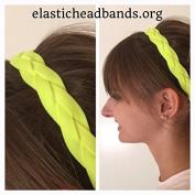 Fabulicious Neon Yellow Braided Headband© - NON SLIP Sports Headband