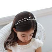Young Girls Wedding Bridal Rhinestone Decor Headband Hairband Tiara Hair Comb