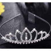 Flower Girl Wedding Rhinestone Decor Headband Hairband Tiara Hair Comb