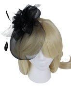 Kentucky Derby Feather Great Gatsby Headband - White
