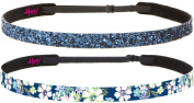 Hipsy Women's Adjustable NO SLIP Pastel Flowers Skinny Headband Gift Packs