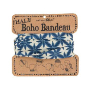 Natural Life Half Boho Bandeau Navy Cream Bursts