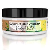 Truly Divine Body Care Body Butter - 240ml, Coconut Lime Verbena Moisturising Cream